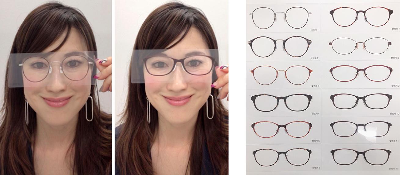 顔タイプ別似合うメガネ